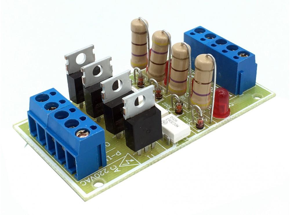 شیلد ترایاک مبدل سطح ولتاژ DC به 220VAC با ولتاژ ورودی 3.3 تا 18 ولت چهار کانال