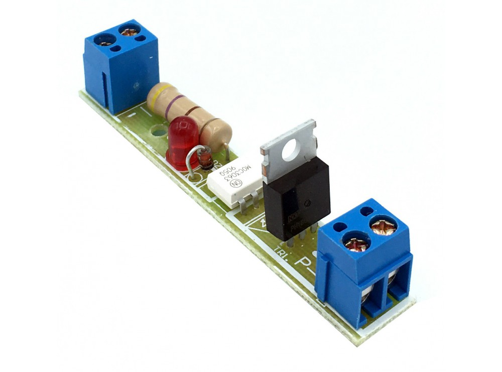 شیلد ترایاک مبدل سطح ولتاژ DC به 220VAC با ولتاژ ورودی 3.3 تا 18 ولت تک کانال