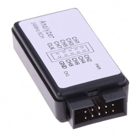 لاجیک آنالایزر USB به همراه بافر 24M 8CH