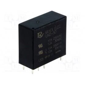 رله مینیاتوری 5V تایوانی مارک RAYEX کد LM2-5D