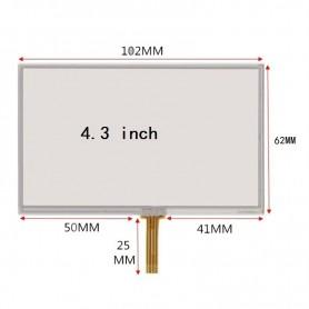 تاچ اسکرین مقاومتی 4.3 اینچ