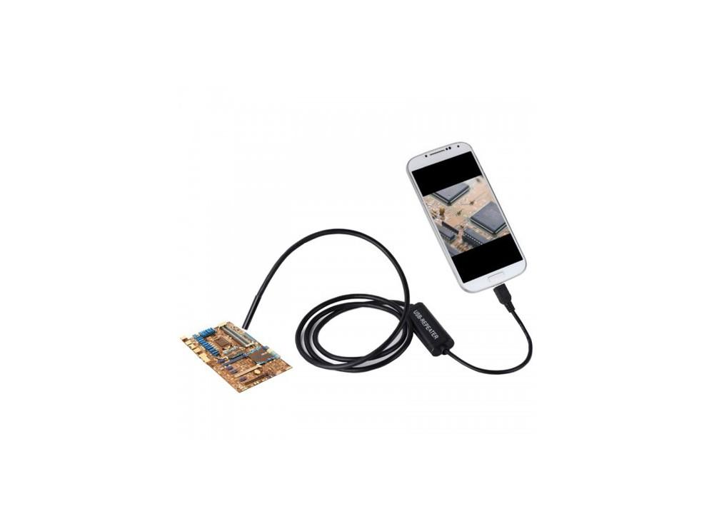 دوربین ( آندوسکوپ ) 1.3 مگاپیکسل لنز 7mm کابل 1 متر ارتباط USB سازگار با ویندوز و اندروید