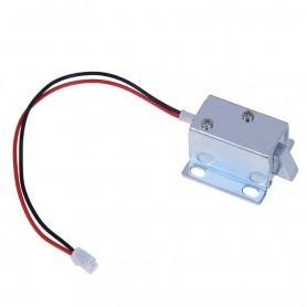 قفل الکترونیکی درب 12 ولتی Solenoid Lock مدل Push-Pull زبانه ای کوچک سایز 27X15X17mm