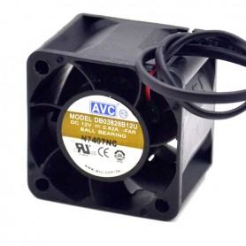 جت فن 12V-0.82A سه سیمه سایز 3.8x3.8 ضخامت 2.8 سانت مارک AVC مدل DB03828B12U