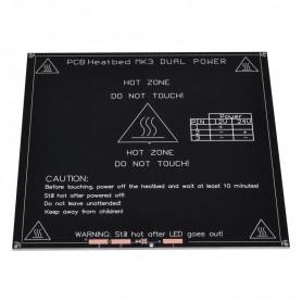 هیت بد PCB Heated Bed تمام آلومینیومی MK3 سایز 214X214X3.0mm مخصوص پرینترهای سه بعدی