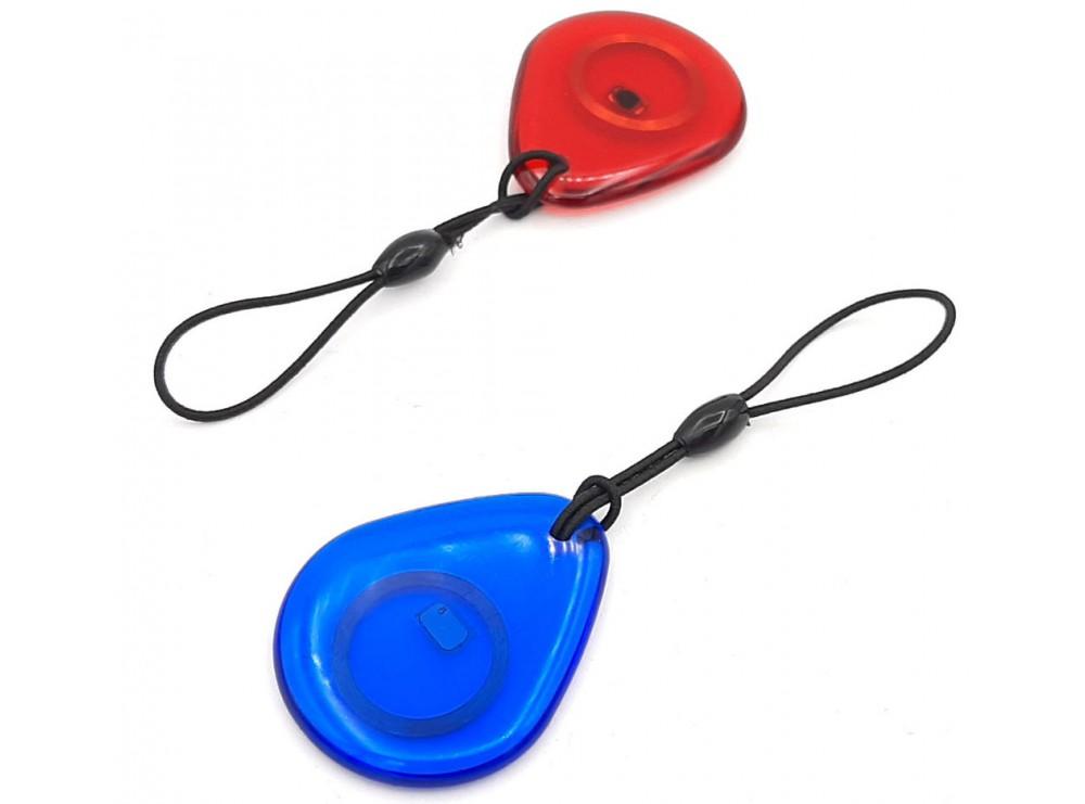 تگ RFID 125KHZ شیشه ای قرمز طرح قطره