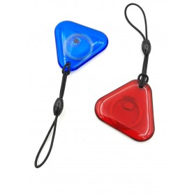 تگ RFID 125KHZ شیشه ای آبی طرح مثلثی