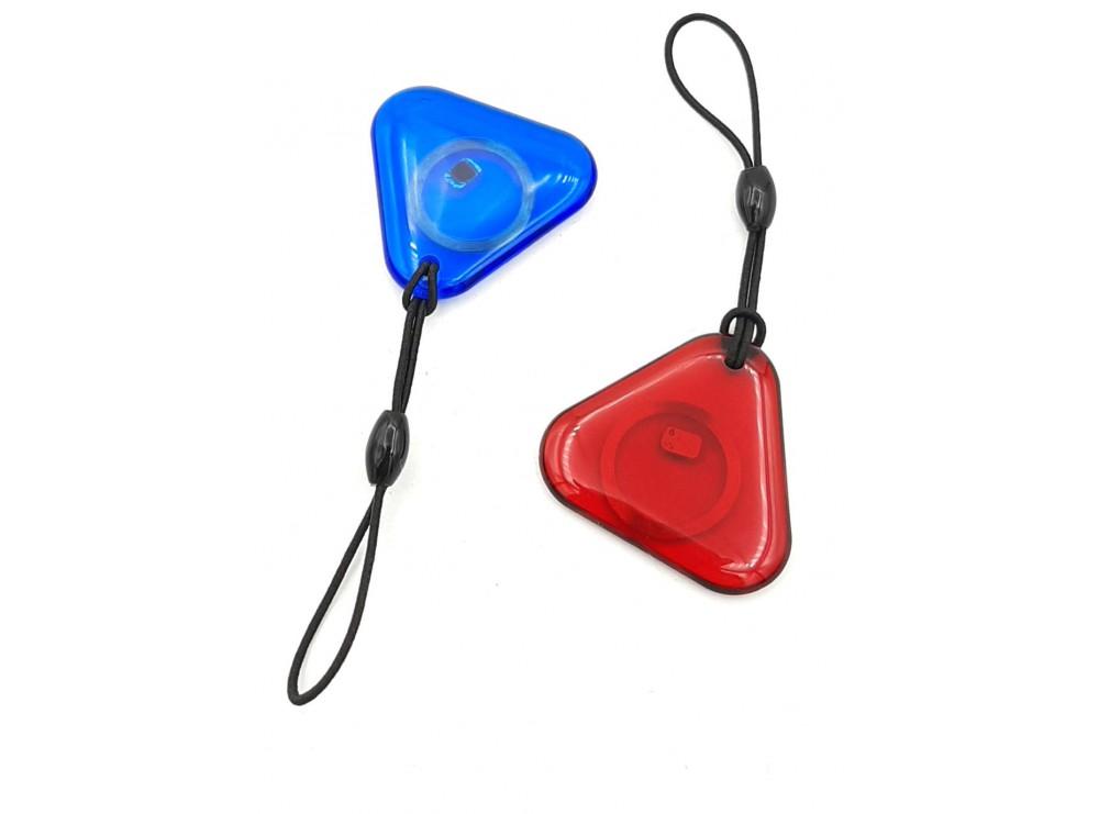 تگ RFID 125KHZ شیشه ای قرمز طرح مثلثی