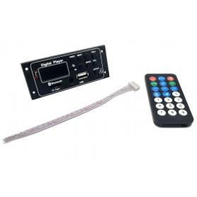 پخش کننده بلوتوثی 12V پنلی MP3 پشتیبانی از MicroSD و USB با ریموت کنترل مدل G012LS