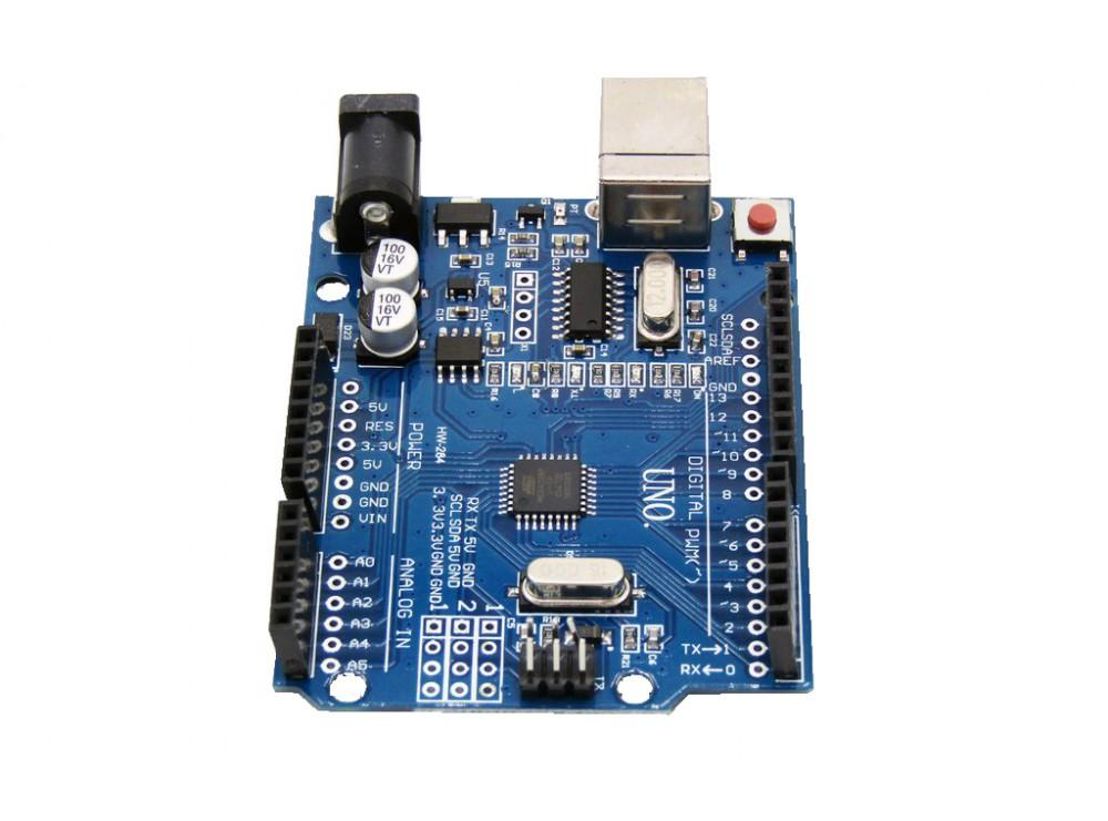برد آردوینو Uno دارای پردازنده مرکزی ATmega328 و چیپ مبدل CH340G ...