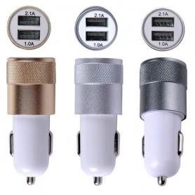 شارژر فندکي با خروجي دو پورت 1A , 2.1A USB