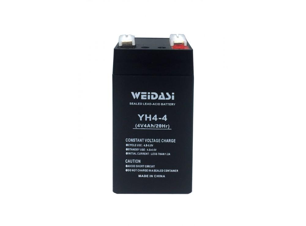 باتری خشک 4 ولت 4 آمپر ساعت مارک Weidasi