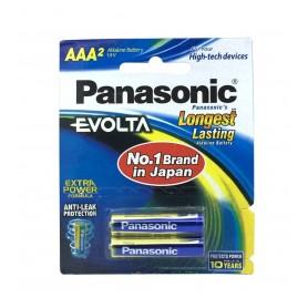 باتری نیم قلمی آلکالاین Evolta دو تایی مارک Panasonic