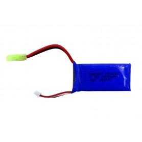 باتری لیتیوم پلیمر 7.4v ظرفیت 1500mAh دو سل 30c مارک Energy کد 803562