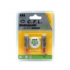 باتری نیم قلمی قابل شارژ 850mAh دوتایی مارک Digital C.F.L