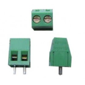 ترمینال پیچی مدل KF128-2Pin رنگ سبز بسته 5 تایی