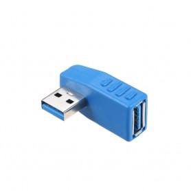 تبدیل USB3.0 مادگی به USB3.0 نری رایت 90 درجه مدل LEFT