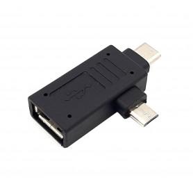 مبدل USB به MicroUSB و TYPE-C