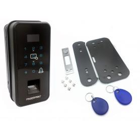 دستگاه کنترل تردد اثر انگشت و RFID اکسس کنترل 13.56MHZ لمسی مدل B4