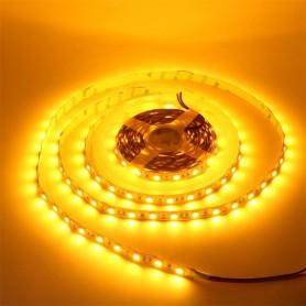 LED نواری زرد درشت 5050 60Pcs رول 5متری