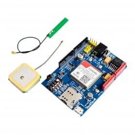 شیلد SIM808 آردوینو به همراه آنتن GSM PCB و آنتن اکتیو GPS