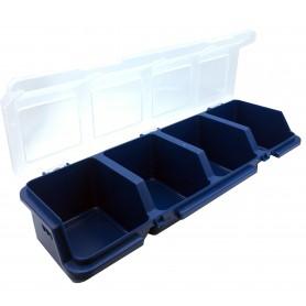جعبه قطعات چهارخانه آبی آذران سایز 300x110x60mm