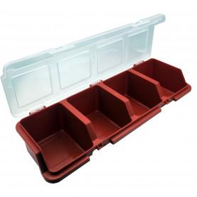 جعبه قطعات چهارخانه قرمز آذران سایز 300x110x60mm