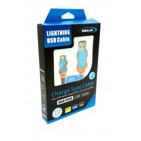 کابل شارژر لایتنینگ USB Lightning یک و نیم متری مارک OSCAR