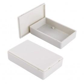 جعبه برد پلاستیکی سفید مدل BMD-A سایز 92x59x23mm