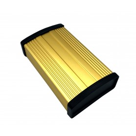 جعبه برد آلومینیومی رادیاتی طلایی سایز 100x57x22mm