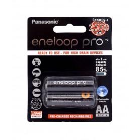باتری قلمی eneloop pro قابل شارژ 2550mAh دوتایی مارک Panasonic