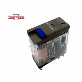 رله 24V شیشه ای 8 پین تایوانی مارک SONG CHUAN کد 607l-2CC-DM-4