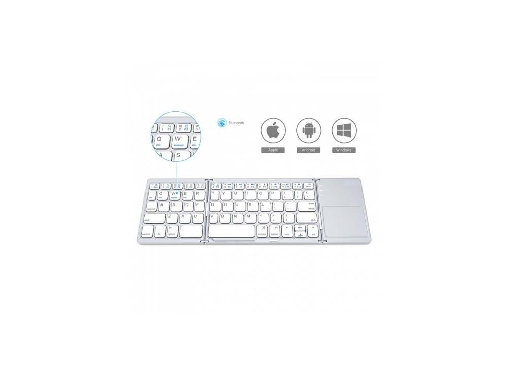 کیبورد بلوتوثی Foldable Bluetooth Keyboard تاشو به همراه تاچ پد مدل B033