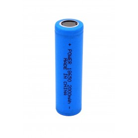 باتری لیتیوم یون 3.7v سایز 18650 سرتخت 2000mAh مرغوب