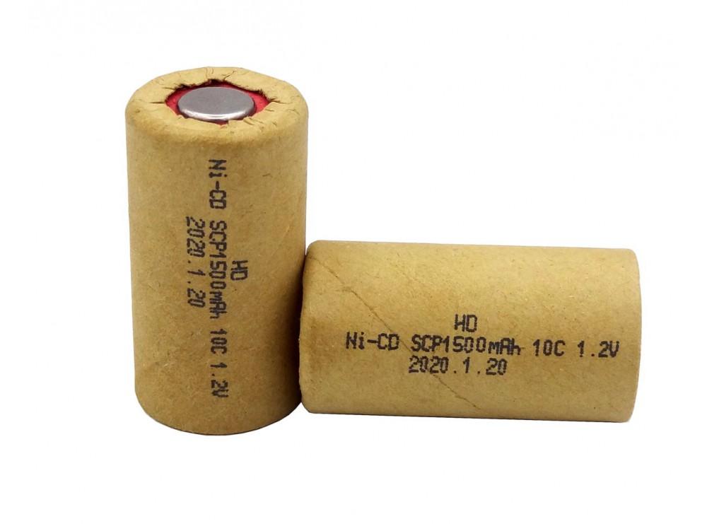 باتری جارو شارژی 1.2 ولت 1500mAh جریان بالا 10C