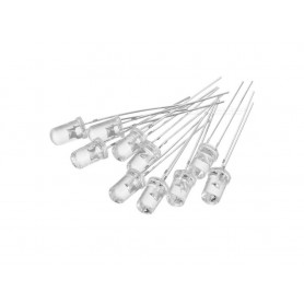 LED سوپر هایبرایت لیزری سفید 5mm