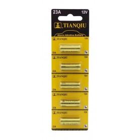 باتری ریموتی آلکالاین 12 ولت سایز 23A مارک Tianqiu ورق 5تایی