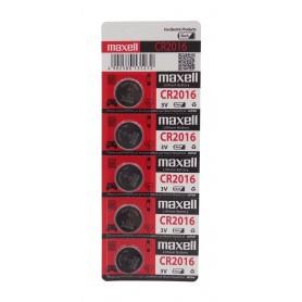 باتری سکه ای 3 ولت CR2016 ورق 5 تایی مارک Maxell