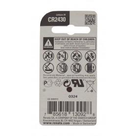 باتری سکه ای 3 ولت CR2430 مارک Renata