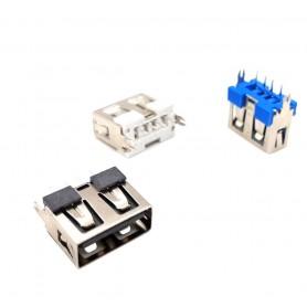 كانكتور USB-A مادگی ایستاده کوتاه 10mm رنگ مشکی
