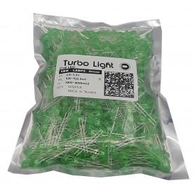 LED اوال 5mm سبز مرغوب تایوانی مارک Turbo Light