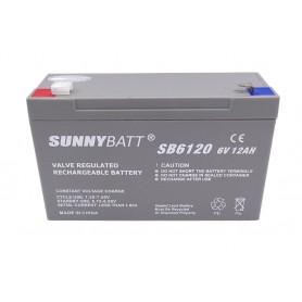 باتری خشک 6 ولت 12 آمپر ساعت مارک SunnyBatt
