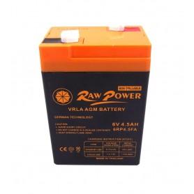باتری خشک 6 ولت 4.5 آمپر ساعت مارک Raw Power
