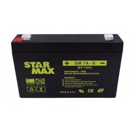 باتری خشک 6 ولت 7 آمپر ساعت مارک StarMax