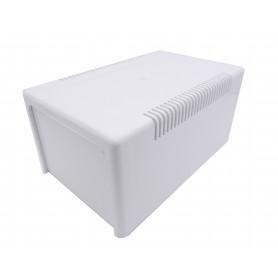 جعبه برد پلاستیکی دو تکه سفید تهویه دار سایز 160x100x80mm