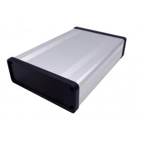 جعبه برد آلومینیومی دو تکه BAD نقره ای سایز 140x33x96mm