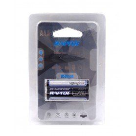 باتری نیم قلمی قابل شارژ 850mAh دوتایی مارک Raptor