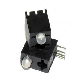 LED قابدار تکی 2 رنگ ر ایت 3mm بسته 50 تایی