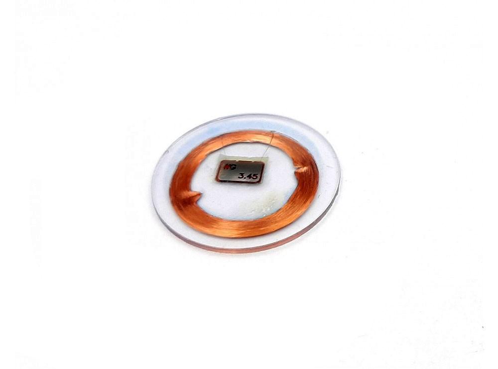 تگ RFID سکه ای شیشه ای 125KHZ قطر 25mm