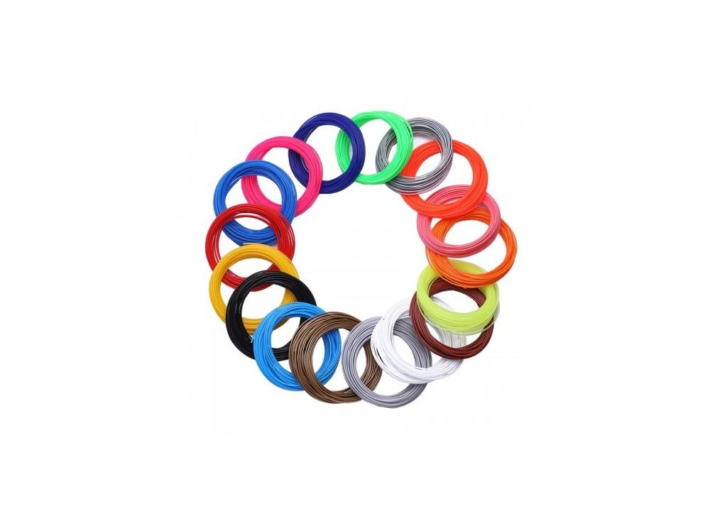پک 20 رنگی فیلامنت 10متری پرینتر 3 بعدی PLA قطر 1.75mm